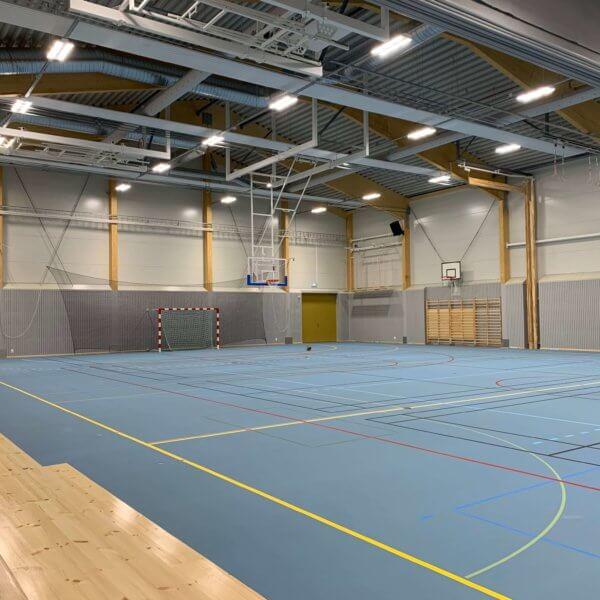 PLG - Skärgårdsskolan, Bollhall i Holmsund
